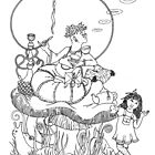 Alice & the Caterpillar by WinonaCookie