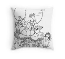 Alice & the Caterpillar Throw Pillow