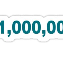 million dollars Sticker