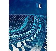 AZTECSURF NIGHT TUBE POSTER Photographic Print