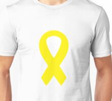 Yellow Awareness Ribbon Unisex T-Shirt