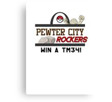 Pewter City Rockers! - Pokémon Print Canvas Print