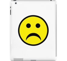 Sad Smiley iPad Case/Skin