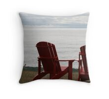 red.chairs Throw Pillow