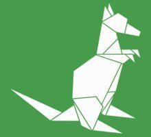 Origami Kangaroo (white) by Calum Lamb