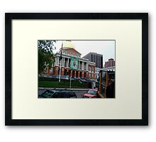 State House Capitol Beacon St Boston MA  Framed Print