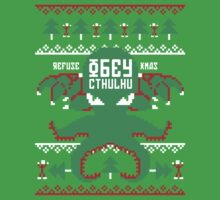 Refuse Christmas, Obey Cthulhu Baby Tee