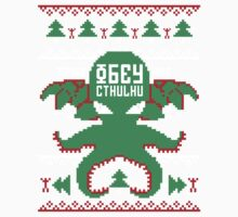 Refuse Christmas, Obey Cthulhu Kids Tee