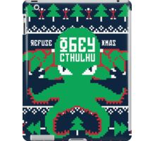 Refuse Christmas, Obey Cthulhu iPad Case/Skin