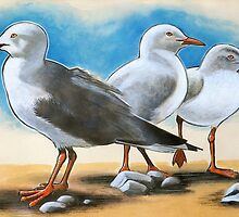 Silver Gulls 1 by EnPassant