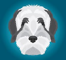 Tibetan Terrier by threeblackdots