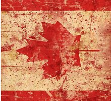 Canada grunge flag by waiting4urcall