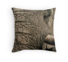 Elephant Profile Throw Pillow