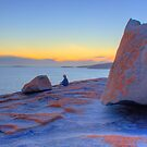 Between a rock and a hard place, at Remarkable Rocks by Elana Bailey