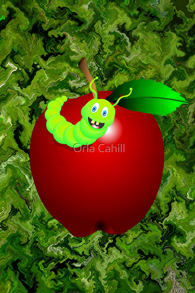 Happy Apple by Orla Cahill