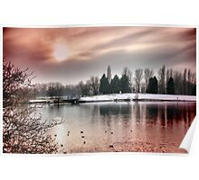billing lake sunset Poster