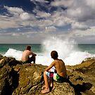 Wave watchers by Ken Wright