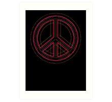 Peace Sign Symbol Abstract 3 Art Print