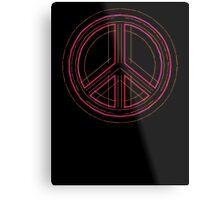 Peace Sign Symbol Abstract 3 Metal Print