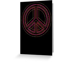 Peace Sign Symbol Abstract 3 Greeting Card
