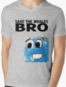 Save the whales bro Mens V-Neck T-Shirt