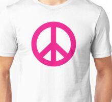 Magenta Peace Sign Symbol Unisex T-Shirt