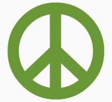 Green Peace Sign Symbol by popculture