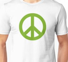 Green Peace Sign Symbol Unisex T-Shirt