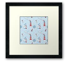 Nautical Sea Background Framed Print