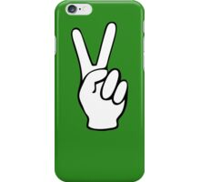 Hand Peace Sign Fingers iPhone Case/Skin