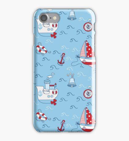 Nautical Sea Background iPhone Case/Skin