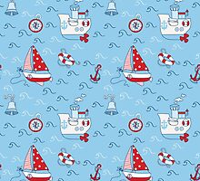 Nautical Sea Background by Anna Sivak