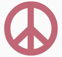 Pink Peace Sign Symbol by popculture