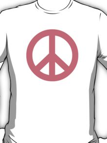 Pink Peace Sign Symbol T-Shirt
