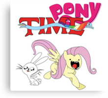 My Little Pony Adventure Time - Angel Bunny & Fluttershy Canvas Print
