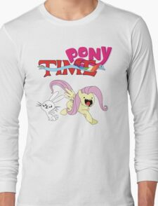 My Little Pony Adventure Time - Angel Bunny & Fluttershy Long Sleeve T-Shirt