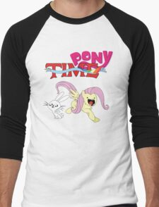 My Little Pony Adventure Time - Angel Bunny & Fluttershy Men's Baseball ¾ T-Shirt
