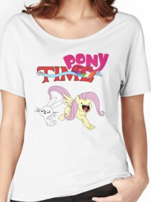 My Little Pony Adventure Time - Angel Bunny & Fluttershy Women's Relaxed Fit T-Shirt