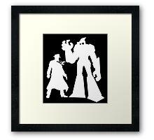 Colt and Petey, Crimefighters (White) Framed Print