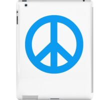 Blue Peace Sign Symbol iPad Case/Skin