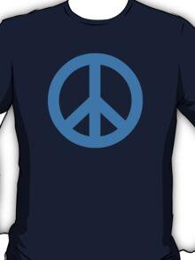 Blue Peace Sign Symbol T-Shirt