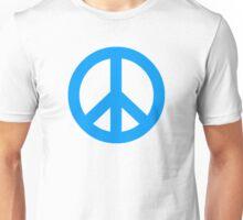Blue Peace Sign Symbol Unisex T-Shirt