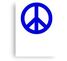 Dark Blue Peace Sign Symbol Canvas Print
