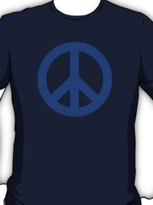 Dark Blue Peace Sign Symbol T-Shirt