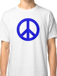Dark Blue Peace Sign Symbol Classic T-Shirt