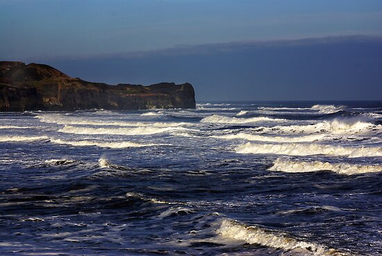 North Sea at Sandsend. by Trevor Kersley