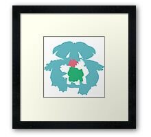 Evolution of Bulbasaur Framed Print