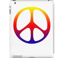 Rainbow 60s Peace Sign Symbol iPad Case/Skin