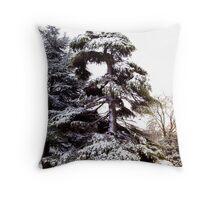 Tree of Snow Throw Pillow