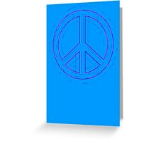Peace Sign Symbol Abstract 4 Greeting Card